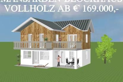 FAMILIEN-VOLLHOLZ-BLOCKHAUS ohne Grundstück