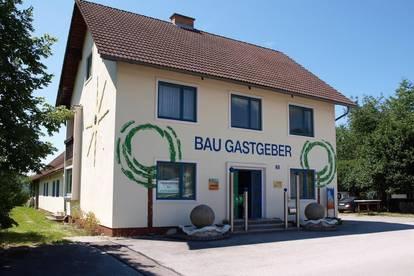 Betriebsgelände mit Wohnung in Langenwang