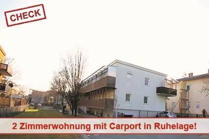 2 Zimmerwohnung mit Carport in Ruhelage Wetzelsdorf
