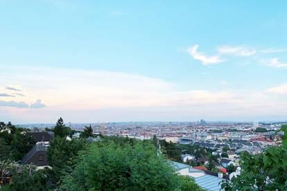 Südseitiger Panoramabaugrund am Schafberg mit Blick ü. Wien bis zum Schneeberg