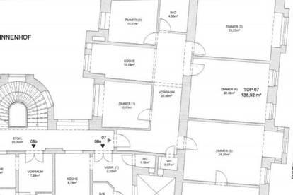 Gut aufgeteilte 6-Zimmer-Wohnung nähe dem Odeon Park