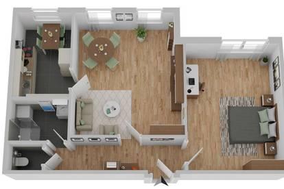 Nähe AKH - möblierte 2-Zimmer Wohnung