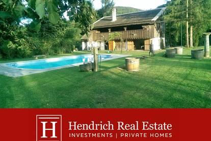 Außergewöhnliches Sommerhaus mit Pool im Weidlingbachtal - ab 1.5.2021 verfügbar
