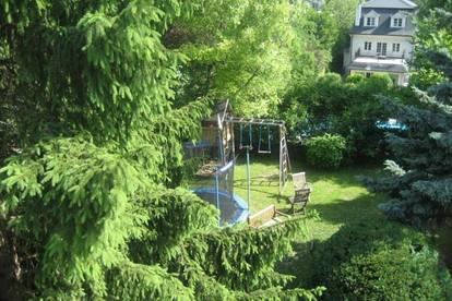 Familienhaus mit schönem Garten, zentrale ruhige Grünlage, 38A Verbindung U Bahn, Lycee -Grinzingerstraße