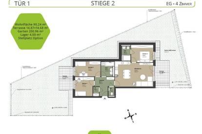 ++ NEU ++ Projekt ALETHEIA - GARTENWOHNUNG - 4 Zimmer mit ZWEI TERRASSEN