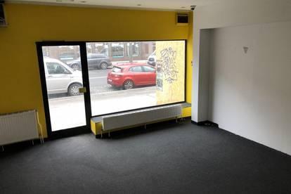 Kleines Geschäftslokal mit großer Fensterfläche, Klima und Alarmanlage direkt auf der Floridsdorfer Hauptstraße