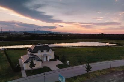 * Virteller Rundgang *Geniale Villa am See - Erstbezug - 15 Minuten südlich von Wien!