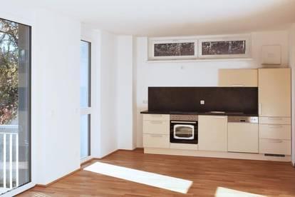 Gartenwohnung inkl. Einbauküche - 37 m² - Linz/Urfahr