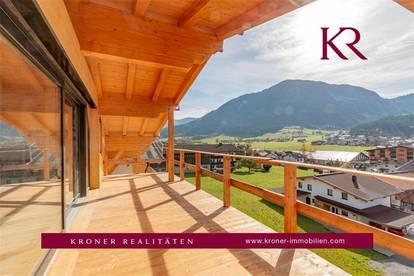 Erstbezug: Penthousewohnung mit atemberaubendem Blick über Brixen im Thale zu verkaufen