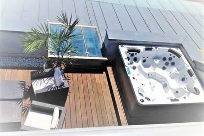 Lifestyle-Pur:))) Stylisches, 113m² Penthouse! inklusive 37m² Dachterrasse mit Whirlpool und Ausblick:)) Plus 82,51m² Garten! Lift!