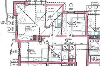 Helle 3 Zimmer - Wohnung mit 2 Balkonen und zugehörigen Stellplatz