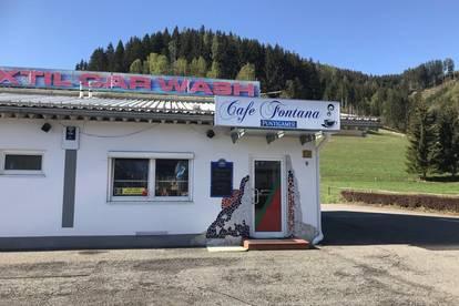 Cafeteria mit genügend Parkplätzen in Frequenzlage