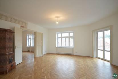Traumhafte 4-Zimmer-Altbauwohnung mit Kamin und Balkon beim Stadtplatz