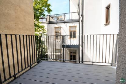 Wunderschöne, helle 2-Zimmer-Wohnung mit Balkon in ruhiger Hoflage
