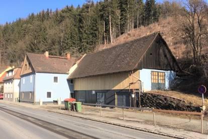 Stadt Leoben: Wohnhaus/Bürohaus mit Werkstatt, Garagen, Lageraum