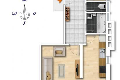 Schwaz - bestens aufgeteilte 4 Zimmerwohnung über den Dächern von Schwaz