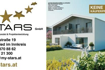 Ried-Gartenstraße-Doppelhaushälfte, Neubau in zentraler, sonniger Lage