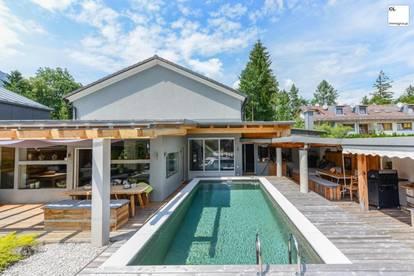 Designer-Villa mit Luxusambiente - Swimmingpool und schöner Ausblick (in Rif, nahe Anif/Niederalm und Salzburg Süd)