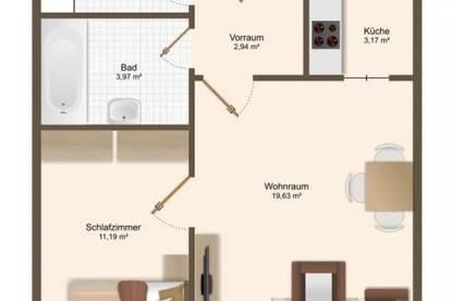 2-Zimmer Wohnung in der Lentia City zu mieten