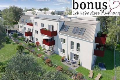 Pärchentraum: schlüsselfertige 2-Zimmer Wohnung mit Eigengarten und Parkplatz. Provisionsfrei!