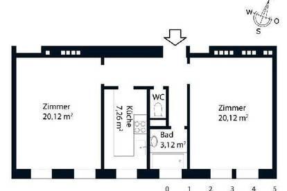 """+++""""Erstbezug - 2-Zimmerwohnung nähe Brigittaplatz - WG-tauglich""""+++"""