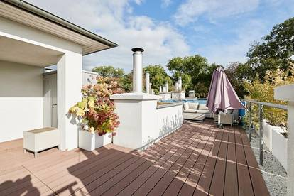 Panorama-Dachterrasse und Grünruhelage! Sonniges 4-Zimmer-Dachgeschoss nahe der U6
