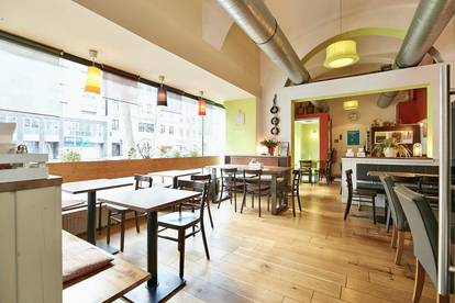 Gut eingeführtes Restaurant mit zwei Gasträumen und Schanigarten nahe Nestroyplatz