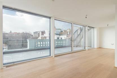 Bestlage beim Gartenpalais Liechtenstein! Exquisite Penthouse-Erstbezug-Dachterrassen-Wohnung mit zwei Terrassen in Grünruhelage