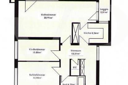 Helle 3-Zimmerwohnung mit Aussicht - Aigen
