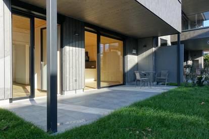 Erstbezug! Lichtdurchflutete Gartenwohnung mit Terrasse in Hall