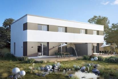 Schlüsselfertiges Doppelhaus auf Eigengrund