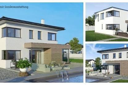 Randlage Rothenthurn - Schönes ELK-Design-Haus und Grundstück in leichter Hanglage mit Ausblick (Wohnfläche - 130m² & 148m² & 174m² möglich)