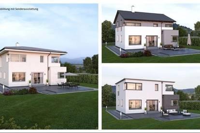 Wartberg/Nahe Linz - Schönes ELK-Design-Haus und Süd-Hang-Grundstück (Wohnfläche - 130m² & 148m² & 174m² möglich)