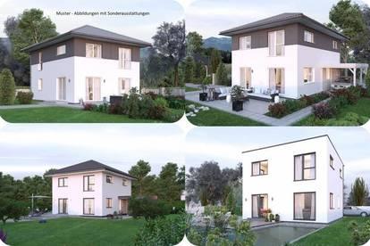 Randlage Micheldorf - Schönes ELK-Haus und ebenes Grundstück mit Gartenhütte (Wohnfläche - 117m² - 129m² & 143m² möglich)