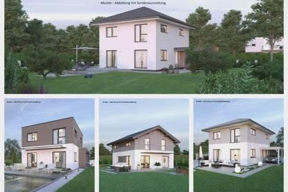 Randlage Glanegg/Nahe Klagenfurt - Schönes ELK-Haus und ebenes Grundstück mit Fernblick (Wohnfläche - 117m² - 129m² & 143m² möglich)