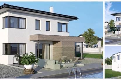 Randlage St.Florian am Inn - ELK-Design-Haus und Hang-Grundstück (Wohnfläche - 130m² & 148m² & 174m² möglich)
