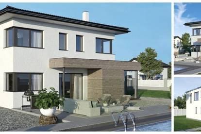 Randlage Poggersdorf - ELK-Design-Haus und Grundstück in leichter Hanglage (Wohnfläche - 130m² & 148m² & 174m² möglich)