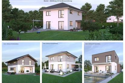 Randlage Steuerberg - Schönes ELK-Haus und Grundstück in Hanglage mit Ausblick (Wohnfläche - 117m² - 129m² & 143m² möglich)