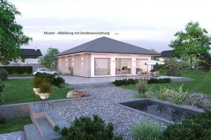 Nahe Hollabrunn - Schöner ELK-Bungalow und Grundstück (Wohnfläche - 104m² & 120m² möglich)