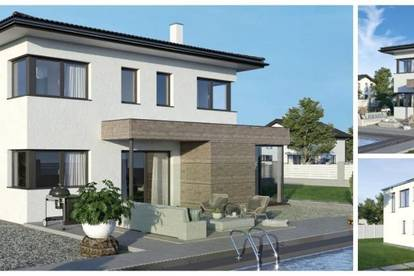 Randlage Köttmannsdorf/Nahe Klagenfurt - ELK-Design-Haus und Grundstück in Hanglage mit Ausblick (Wohnfläche - 130m² & 148m² & 174m² möglich)