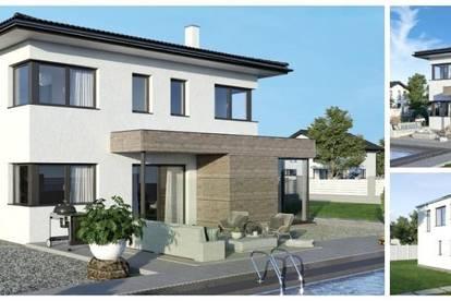Wartberg/Nahe Linz - ELK-Design-Haus und Süd-Hang-Grundstück (Wohnfläche - 130m² & 148m² & 174m² möglich)
