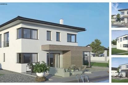 Moosburg - Schönes ELK-Design-Haus und Hang-Grundstück mit Aussicht (Wohnfläche - 130m² & 148m² & 174m² möglich)