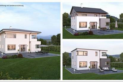 Randlage Karnburg - Schönes ELK-Design-Haus und Grundstück in leichter Hanglage (Wohnfläche - 130m² & 148m² & 174m² möglich)