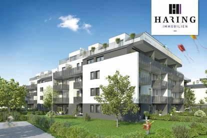Neubau Erstbezug 3-Zimmer-Wohnung mit 7,77m² Loggia - Komplettküche - Kellerabteil - Garagenplätze