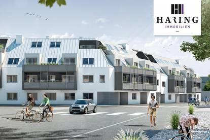 3-Zimmer-Wohnung Erstbezug Neubau mit Markenküche, 10,12m² privater Außenfläche und Kellerabteil