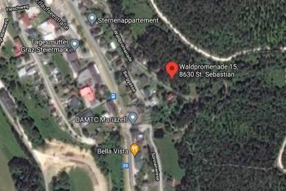 Baugrundstück in Mariazell: Sankt Sebastian, Waldpromenade 15 - Zweitwohnsitz möglich!
