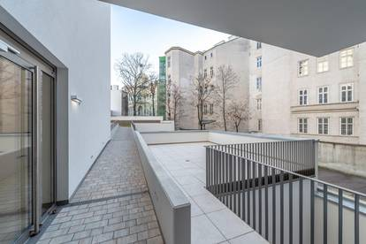 4 Zimmer-Neubauwohnung mit großer, hofseitiger Terrasse - ab sofort beziehbar!