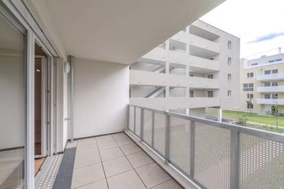 Hofseitige 3 Zimmer-Erstbezugswohnung mit sonniger Loggia im Q11!