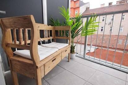 ab November beziehbar: hofseitige 2-Zimmer-Neubauwohnung mit Balkon!
