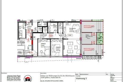 provisionsfreie GARTENWOHNUNG Spillern 69,46 m² - mit Küche